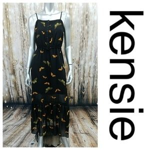 Kensie Butterfly Illusion Boho Maxi Dress